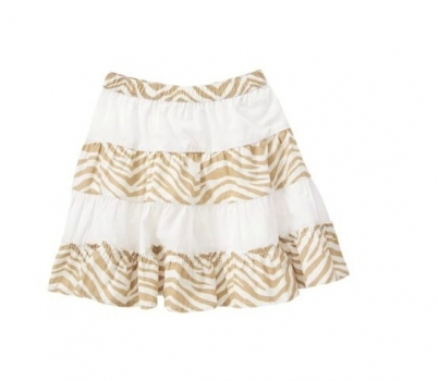 Crazy8 Юбка для девочки  Zebra Stripe Pieced Skirt
