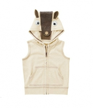 Crazy8 жилетка для мальчика Googly Eye Armadillo Sleeveless Hoodie